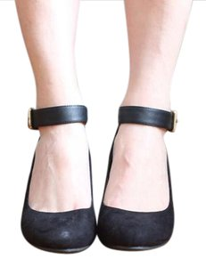 New Directions Velvet black Wedges