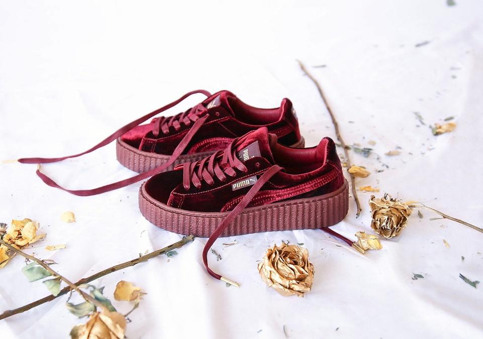 timeless design d40f8 2917e Puma Royal Purple New Rihanna Fenty Creepers Velvet Burgundy Sneakers Size  US 7