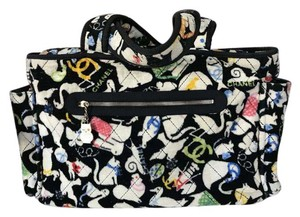 Chanel Black White Diaper Bag