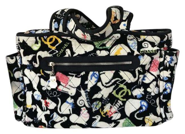 Item - Animal Line Terry Quilted Black White Cloth Diaper Bag