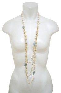 Alexis Bittar ALEXIS BITTAR Gold Chain blue Stone Necklace