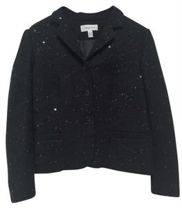 Calvin Klein Sequin Formal Black Blazer