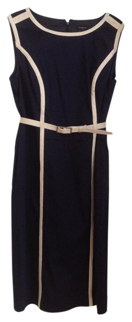 Preload https://img-static.tradesy.com/item/20767975/ann-taylor-navy-blue-and-white-mid-length-workoffice-dress-size-10-m-0-1-650-650.jpg