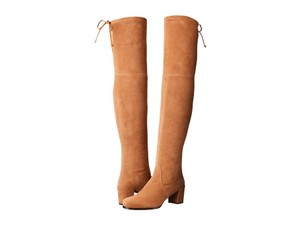 Stuart Weitzman Over The Knee Lowland toffee suede Boots