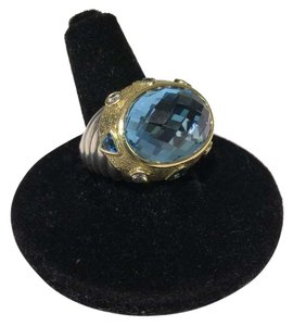 David Yurman David Yurman Oval Blue Topaz Renaissance Ring size 6.5
