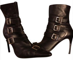 Bronx Black w Silver Buckle Accents Boots
