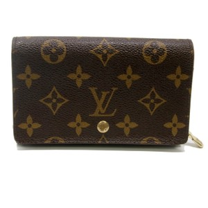Louis Vuitton Louis Vuitton Signature Monnaie Tresor LV Monogram Wallet Gold