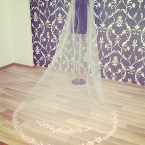 Ivory Long Cathedral Bridal Veil