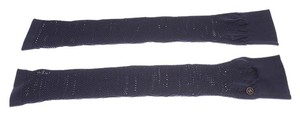 Chanel Chanel Blue Cotton Arm Warmers (113126)