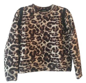 Rachel Comey Animal Print Cat Wild Sweater