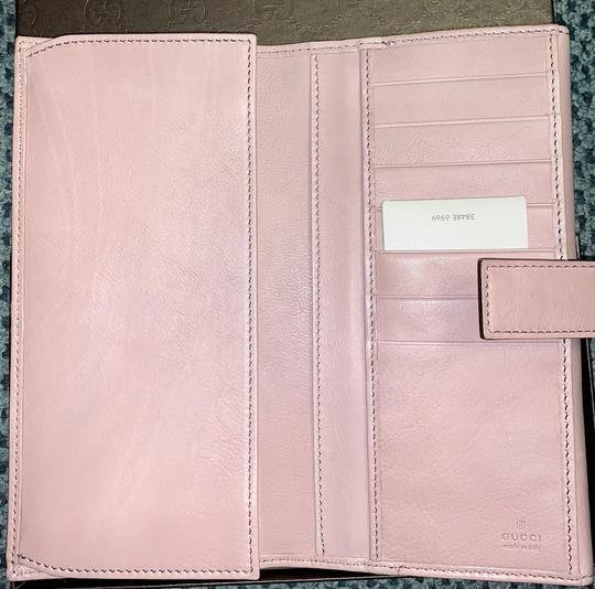 Gucci GUCCI Spur Detail Continental Clutch Leather Wallet Pink 277717 6812 Image 8