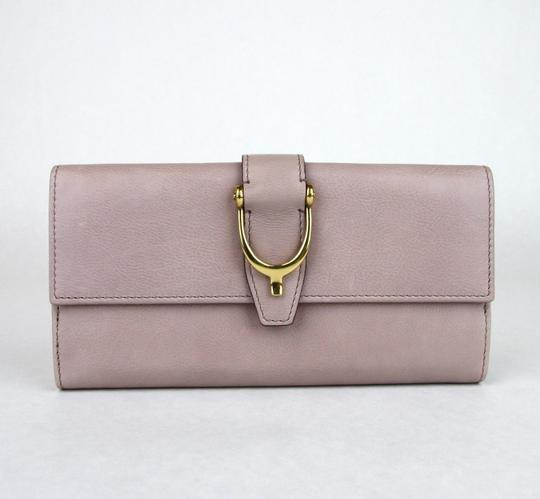 Gucci GUCCI Spur Detail Continental Clutch Leather Wallet Pink 277717 6812 Image 1