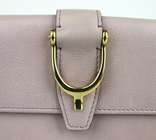 Gucci GUCCI Spur Detail Continental Clutch Leather Wallet Pink 277717 6812 Image 3
