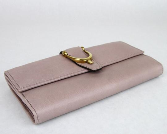 Gucci GUCCI Spur Detail Continental Clutch Leather Wallet Pink 277717 6812 Image 4