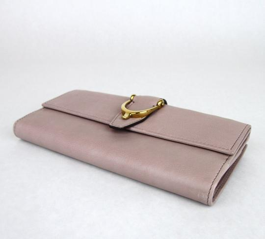 Gucci GUCCI Spur Detail Continental Clutch Leather Wallet Pink 277717 6812 Image 5
