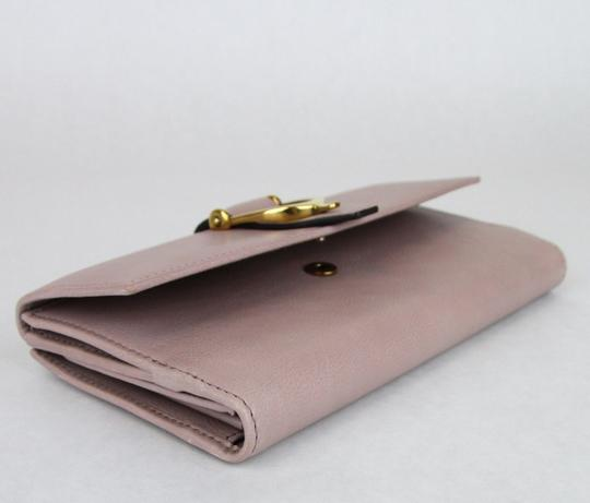 Gucci GUCCI Spur Detail Continental Clutch Leather Wallet Pink 277717 6812 Image 6
