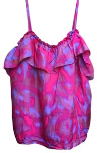Rebecca Taylor Top pink and blue