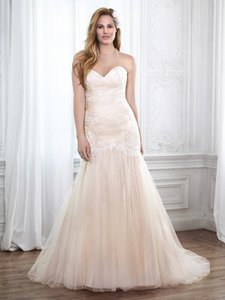 Maggie Sottero Ivory Tulle/Lace Haven Sexy Wedding Dress Size 22 (Plus 2x)