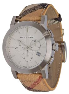 Burberry BRAND NEW MENS BURBERRY (BU9360) CITY HAYMARKET CHECK CHRONO WATCH
