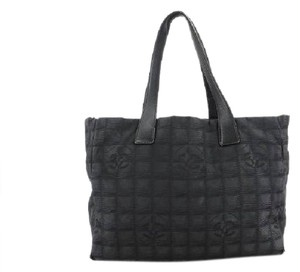 Chanel Leather Canvas Quilted Patchwork Diaper Tote in Black
