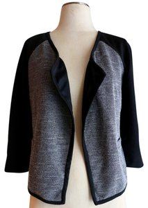 Dana Buchman Tweed Black White Cardigan Black Tweed Jacket