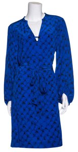 Diane von Furstenberg short dress Blue & Black on Tradesy