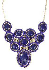 ZAD Zad Jewelry 'Abia' Beaded Jewel Bib Necklace, Blue Multi