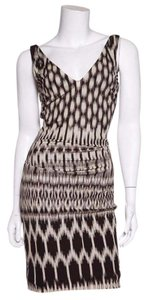 Nicole Miller short dress black & beige on Tradesy