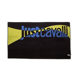Just Cavalli Just Cavalli Black & Yellow 100% Cotton Extra Large Beach Pool Towel
