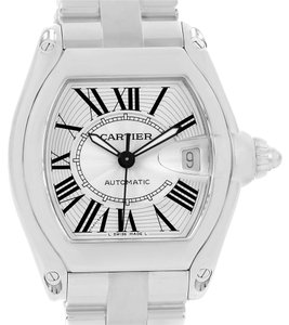 Cartier Cartier Roadster Large Silver Dial Mens Watch W62025V3 Box Papers