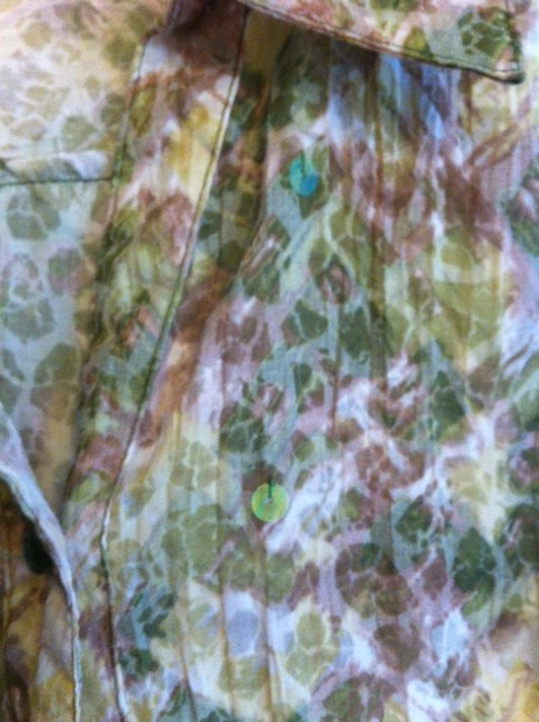 JM Collection Top Green, White, Beige multi Image 2