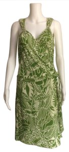 Green and Cream Maxi Dress by Laundry by Shelli Segal