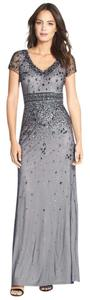 Adrianna Papell Embellished Gown Short Sleeve Dress