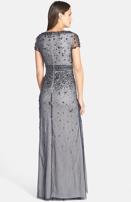 Adrianna Papell Embellished Gown Short Sleeve Dress Image 1