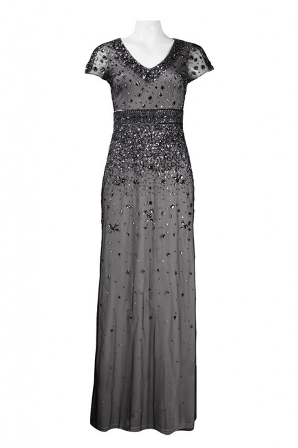 Adrianna Papell Embellished Gown Short Sleeve Dress Image 2