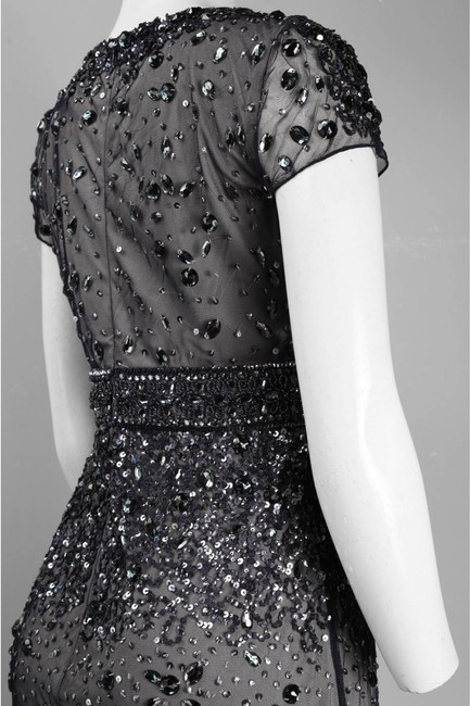 Adrianna Papell Embellished Gown Short Sleeve Dress Image 3