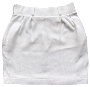 Mango Mini Skirt white