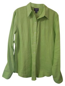 Chaps Linen Top lime green