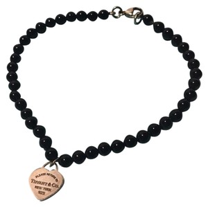 Tiffany & Co. Tiffany Onyx Bead Bracelet RTT Heart Tag