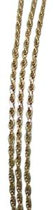 Other Estate Vintage 10k yellow gold 3mm in width mariner chain necklace