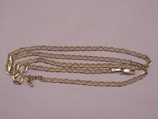 Other Estate Vintage 10k yellow gold 3mm in width mariner chain necklace Image 2