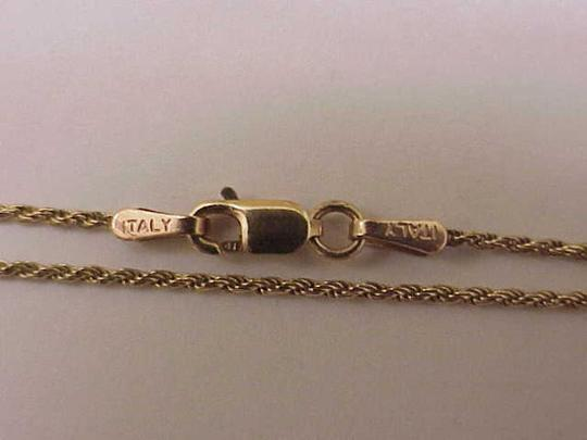Other Estate Vintage 10k yellow gold 3mm in width mariner chain necklace Image 3
