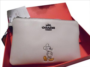 Coach Disney Disney X Limited Edition Mickey Wristlet in Chalk