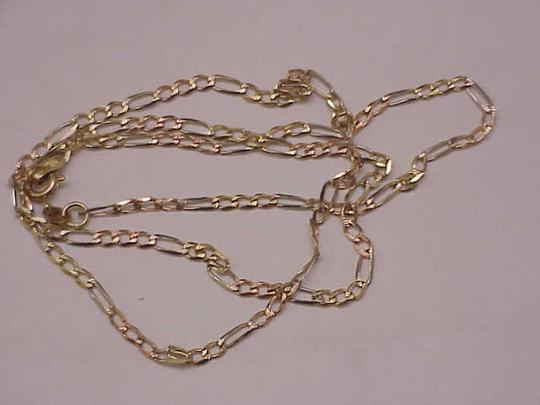 Other Estate Vintage 14k yellow gold figaro link style chain necklace 18