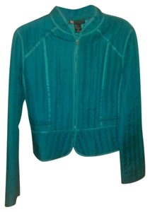 Carole Little Silk Teal Jacket