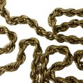 Other Estate Vintage 10k yellow gold rope necklace 25 1/2