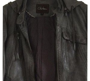 Cole Haan Grey Leather Jacket