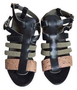 Balenciaga black with brown and green Sandals