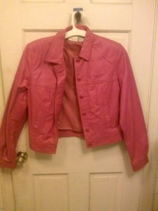Newport News Leather Pink Leather Jacket