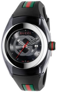 Gucci Gucci Sync L Black Rubber Unisex Watch YA137301